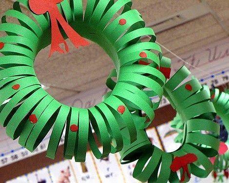Adorno para el árbol, con papel de colores, fácil!
